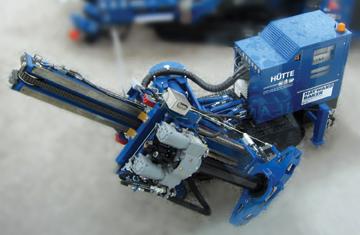 Remote-control Crawler Drill