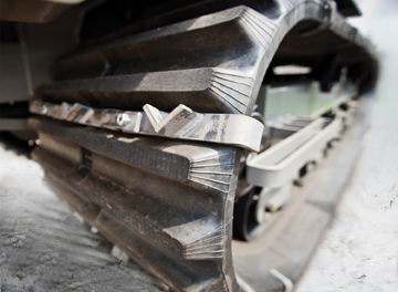 Cleats Improve Rubber-tracked Carrier Performance