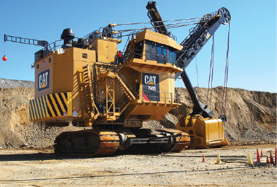 Cat Refines, Expands Rope Shovel Feature Lineup