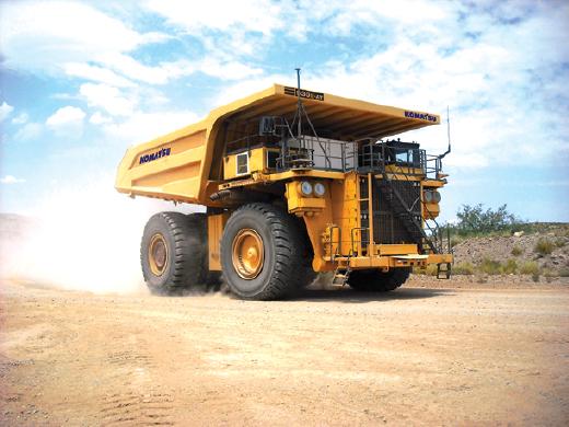 Komatsu's 930E-4AT autonomous haul truck.