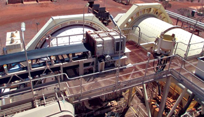 Existing SAG and ball mill installations at the inactive Thunderbox gold operation in Western Australia. (Photo courtesy of Saracen Mineral Holdings)