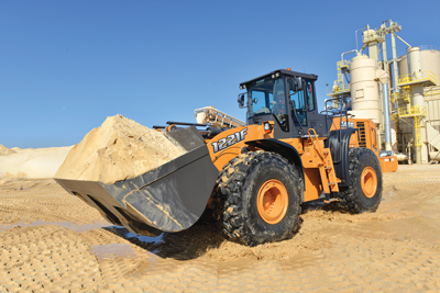 Case Construction Equipment's new 1221F loader is the newest and largest model in the company's F Series wheel loader line.