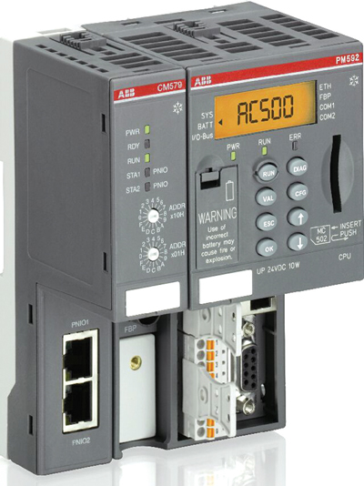 ABB's XC PLC, shown here, is made to withstand ex- treme environmental conditions.