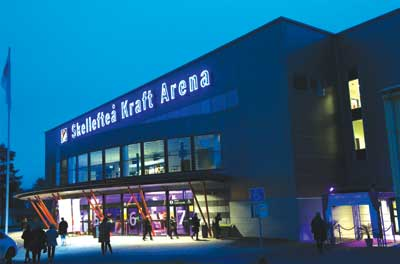 All of the indoor exhibit space at the venue, pictured here, has been booked for the upcoming Euro Ming Expo 2014, to be held June 10-12 in Skellefteå, Sweden.