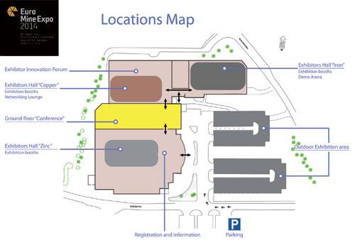 Euro Mine Expo 2014 Floor Plan