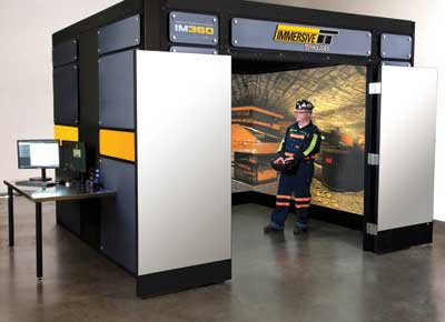 Recently developed technology allows trainees using Immersive Technologies' IM360 simulator to freely 'walk around' a mine site and practice desired behavior in a 360° realistic environment.