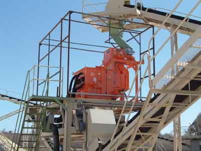 Eriez supplied this rare-earth roll separator to a silica sand producer in Morocco to remove iron contamination.