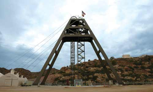Sinking what is now the deepest single-lift shaft in the U.S., Resolution Copper is using brute force engineering to finish the project.
