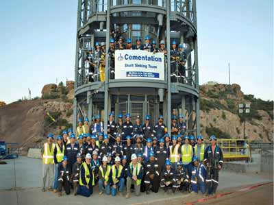 Most of these locally trained miners are still with the project five years later.
