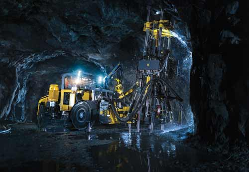 Atlas Copco's new Easer rig, scheduled for its launch this year, drills stope-opening holes.