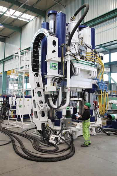 Built by the German company, Herrenknecht, the RBR 900VF is the world's largest, most powerful raise borer.