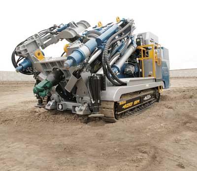 Peru-based Tumi Raise Boring's SBM-400SR, used specifically for drilling slot raises.