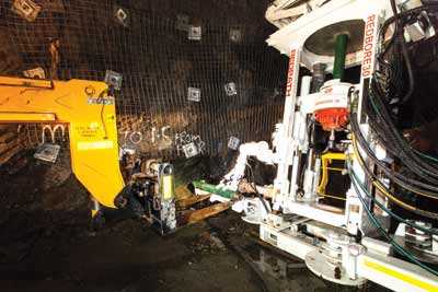 Redpath's Redbore 30 is designed for drilling blind-hole block-caving raises.