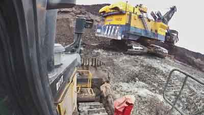 Video captures from inside the dozer provide wide angle views of what the operator is doing.