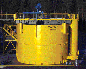 Outotec's TankCell e500 is intended for projects with high material throughput rates, such as large copper and gold operations. It is fitted with Outotec's FloatForce mixing technology, featuring a new rotor and stator design.
