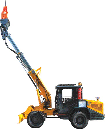 NPK Construction Equipment announced that it will begin marketing Paus scaling machines in the U.S.—primarily Paus' model 853 S8 and 1253 S10 scalers equipped with NPK's GH-2S tunneling hammers.