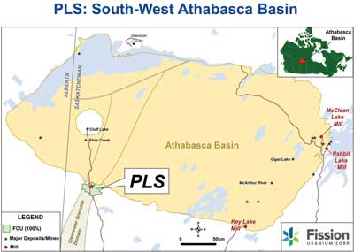 Using an airborne radio-metric survey, Fission energy discovered Patterson Lake South (PLS).
