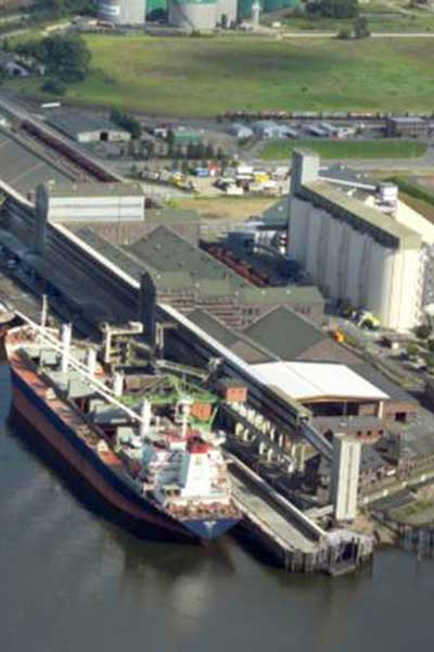 The Kalikai ship-loading facility in Hamburg, Germany, which handles some 500 vessels annually. (Photo courtesy of K+S)