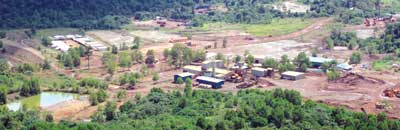 An overview of the facilities at the Mengapur polymetallic project.