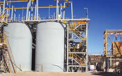 The processing facilities at the Murchison project in Western Australia.