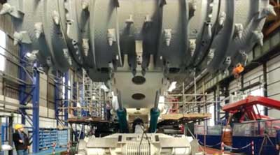 Nautilus Minerals' Bulk Cutter during factory assembly.
