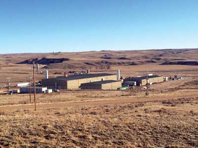 The Nichols Ranch uranium in situ recovery (ISR) project in Wyoming is Uranerz Energy's first uranium mine, and the newest operation of its kind in the U.S. (Photo courtesy of Uranerz Energy)