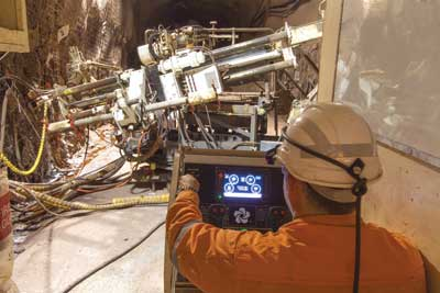 Electronic Interface Boosts Underground Drill Efficiency at