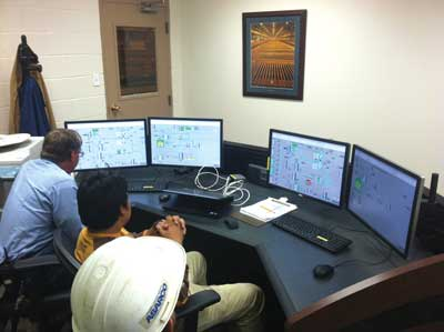 A new control room allows operators to understand what's happening in real time, and take immediate action to optimize system performance.
