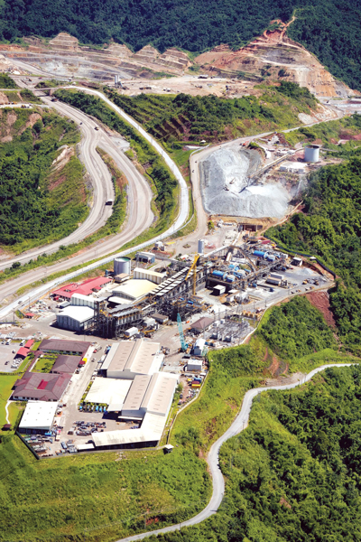 The Phu Kham copper-gold project, which was PanAust's first operation in Laos. (Photos courtesy of PanAust)