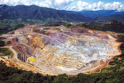 The open pit at the Phu Kham copper-gold project.