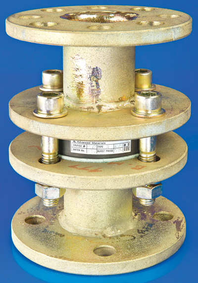 If fitted correctly, graphite rupture discs designed to guard against pump explosion have an almost unlimited service life, require no interim maintenance, and can typically be changed within a matter of minutes.