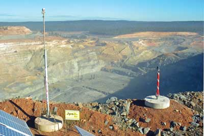Locata Corp.'s networks enable deep open pits to maintain accurate positioning capabilities.