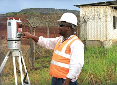 A Reigl laser scanner in use at AngloGold Ashanti's Geita mine in Tanzania. (Photo courtesy of 3D Laser Mapping).