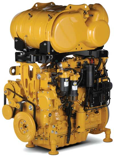 Cat Industrial, which sells the company's engines to equipment OEMs, said it will offer a range of Tier 4 Final-compliant models, including the C7.1 ACERT engine shown here up to the much larger C27 and C32, beginning later this year.