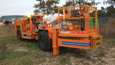Emulsion loaders from the Canadian company, BTI, can be specified with a range of booms, cabs and delivery systems.