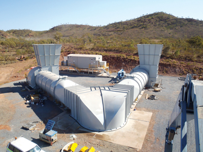 The hard-rock mining industry in Western Australia has been at the forefront of gaining new understanding into DPM, its potential effects on personnel, and ways of mitigation. (Photo courtesy of AirEng)