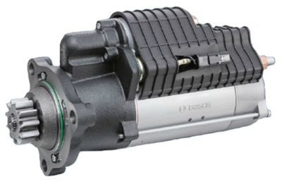 Bosch's Starter Motors and Generators division, recognizing that large-displacement engines place great demands on starters, has a new addition to its 24-volt starter motor portfolio: the HEF109-L large heavy-duty starter motor for off-highway applications.