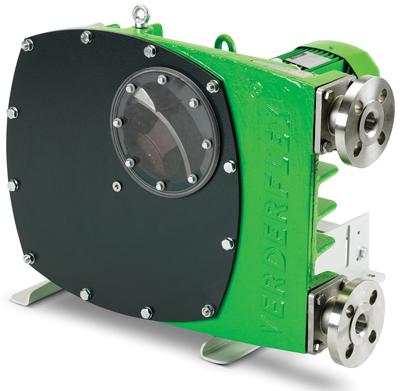 Verderflex VF pumps are used for handling abrasive slurries.