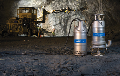 Xylem's Flygt 2700 stainless-steel submersible pumps for handling corrosive fluids.