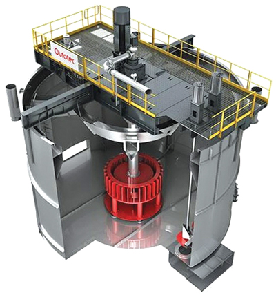 Outotec's new TankCell e630 has an effective volume of 630 m3 in its standard configuration, with almost 700 m3 of volume possible in other configurations.