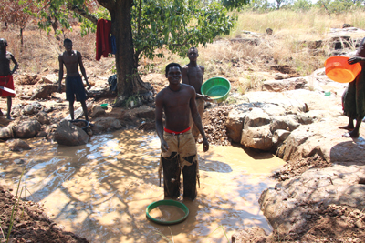 Artisanal mining is a common source of income in Uganda, where Rakai Resources helps provide training in other professions.