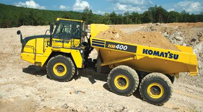 Komatsu America Corp.'s new HM400-5 articulated dump truck