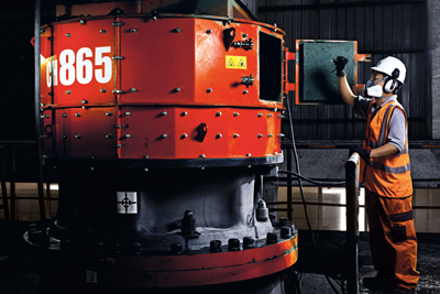 Sandvik recently introduced the CH865 cone crusher, intended for tertiary and pebble crushing, and the CH860 for high-capacity secondary crushing