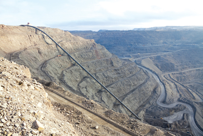 Conveyors can replace haul trucks for delivering ore to the process plant