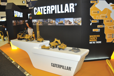 Equipment suppliers—and mining contractors—showcase their products and services at Indaba annual show.