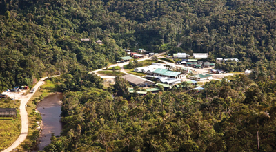 The Las Peñas camp is the base for exploration activities at Fruta del Norte.