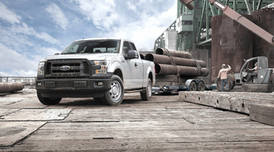 The 2015 Ford F-150 pickup truck features an all-aluminum cargo box that was able to withstand harsh usage at a western U.S. mine during prototype testing.