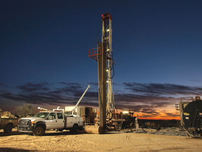 Exploration drilling of the Ochoa potash deposit began with rotary drilling down to the target formation, then core drilling through the cased rotary hole.