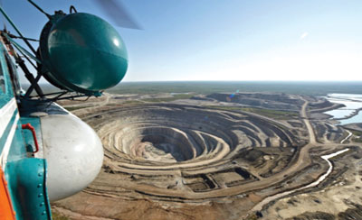 Botuobinskaya is targeted to produce 1 million carats in 2015. (Photo courtesy of Alrosa)