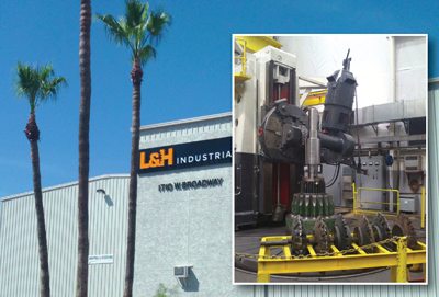 L&H Industrial's Tempe, Arizona, gear fabrication shop. Inset: The Höfler gear grinder.